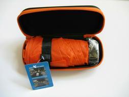"NEW 37"" Mini Travel Folding Umbrella with zippered case Oran"
