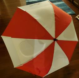 NEW GustBuster 62-Inch Golf Umbrella -- red and white