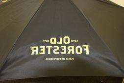 New Old Forester 7 foot Outdoor Patio Market Umbrella Black