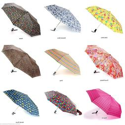 NEW Totes Auto Open Compact Folding Umbrellas Choose from 45