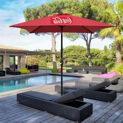 NEW! Coca Cola Large 8' Canvas Commercial Patio Table Umbr