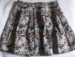 NEW Floral Umbrella Skirts Stretch Pleated Size M  Shorts Li