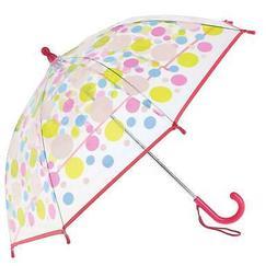 New CTM Kid's Manual Open Polka-Dot Print Clear Umbrella