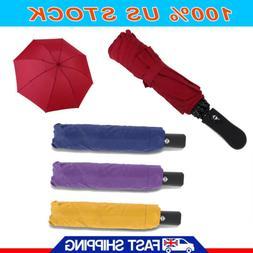 New Large Umbrella Automatic Inverted Reverse Foldable 3 Fol