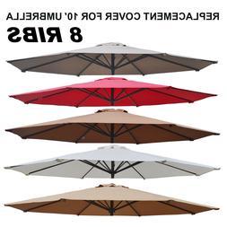 NEW Multi-color 10' Patio Umbrella 8 Ribs Cover Canopy Repla
