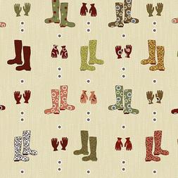 New Nordic Garden Rain Boots Gloves Stof Quilting 100% cotto