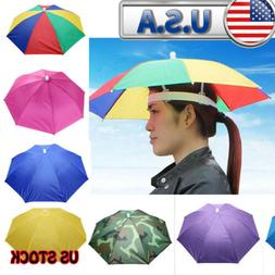 New Outdoor Foldable Sun Umbrella Hat Camping Headwear Folda
