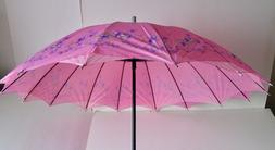 New Parasol Umbrella Sun Rain Floral Fashion Victorian Woman