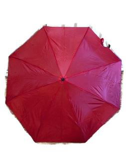 "New Red Umbrella Compact Rain Portable Emergency  42"" arc,"