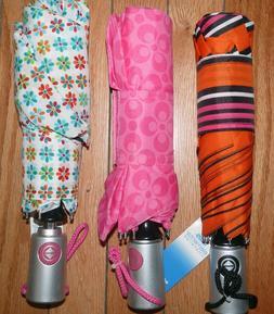 "NEW Womens Large Automatic Auto Umbrellas 42"" - 48"" Coverage"