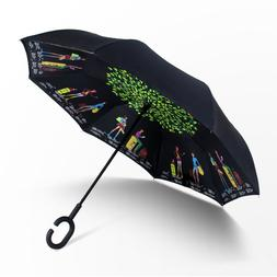 Night Snow <font><b>Umbrellas</b></font> Stand Inside Sunny