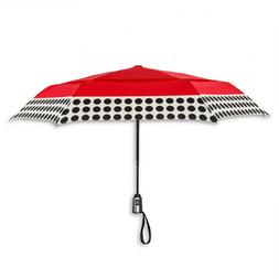 NWT ShedRain Cirra Polka Dot Red Auto Open Close Airvent Can