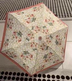 NWT COACH F75786 Umbrella Nylon Signature Lily Bouquet Print