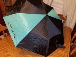 "NWT Nautica Oversize 43"" Coverage Auto Open Umbrella - BLACK"