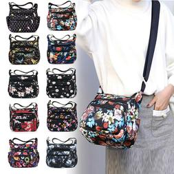 Nylon Floral Crossbody Bag for Women Casual Messenger Should