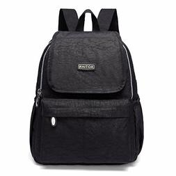 AOTIAN Lightweight Casual Small Backpack 10 Liters Black, Wa