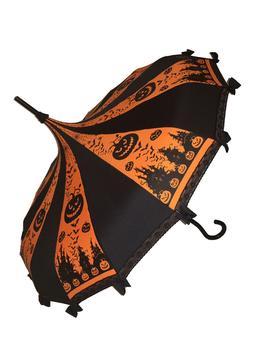 ORANGE HALLOWEEN print Umbrella/Parasol pagoda shaped by Hil