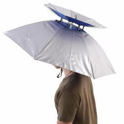 Outdoor Double Layer Fishing Umbrella Hat Beach Sunny Rainy