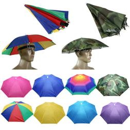 Foldable Umbrella Hat Sun Visor UV Protection Fishing Campin