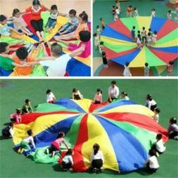 Outdoor Kids Play Parachute Jump-sack Rainbow Umbrella Sport