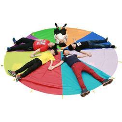 Outdoor Kids Play Parachute Rainbow Umbrella Sport Activity