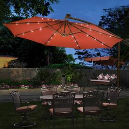 Outdoor Patio Umbrella Market Tilt Garden Sunshade Beach Off
