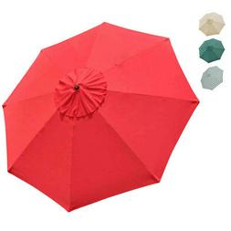 Outdoor Umbrella Canopy REPLACEMENT TOP Cover for 10' 8 Rib