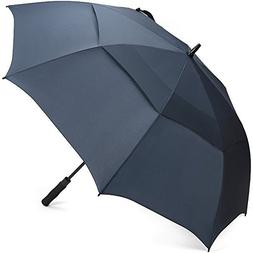 G4Free Large Oversized Golf Umbrella Double Canopy Navy Blue