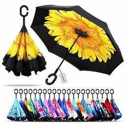 windproof double layer folding inverted umbrella a