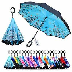 Owen Umbrellas Kyne Windproof Double Layer Folding Inverted