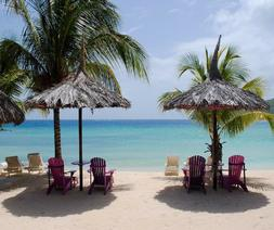 PALM TREE PARADISE BEACH CHAIRS UMBRELLA  COMPUTER MOUSE PAD