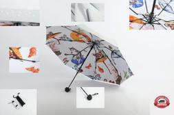 Parasol Umbrella 100% Anti-UV Sun Rain Protection Windproof