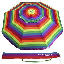 AMMSUN 6.5 ft Outdoor Patio Beach Umbrella Sun Shelter with