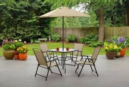 Patio 6 Piece Dining Set Outdoor Furniture Folding Table Cha
