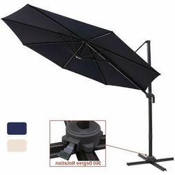 Patio Offset Cantilever Umbrella 10-Feet Outdoor Patio Hangi