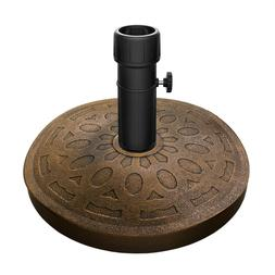 patio umbrella base heavy cement resin weighs
