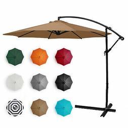 Belleze Patio Umbrella 10 Ft Offset Cantilever Umbrella Outd