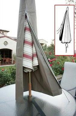 Patio Umbrella Cover fits 7ft to 11ft umbrellas