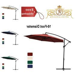 Patio Umbrella Hanging Outdoor Garden Market Red Beige Navy