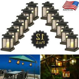 Solar Lamp LED Candle Lantern Patio Umbrella Lights Outdoor