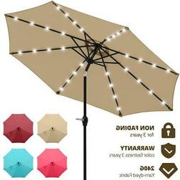 Quictent Patio Umbrella Outdoor Garden Table Canopy Tan with