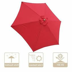 9' Patio Umbrella Replacement Canopy 6 Rib Outdoor Yard Deck