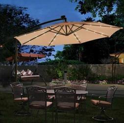 Patio Umbrella Stand Lights Cantilever Outdoor Canopy Light