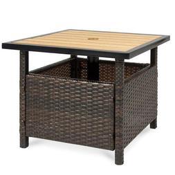 Patio Umbrella Stand Table Steel Frame Sunshade Holder Garde