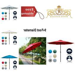 Patio Umbrella Table Outdoor Waterproof Fade Resistant Polye