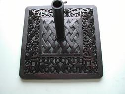 "Perris Collection Wrought Iron Umbrella Stand 22"" Square Bas"