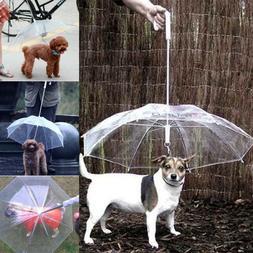 Pet Umbrella Dog Leash Reflective Pour Protection Back Lengt