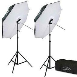 Photography LED 42in Umbrella Softbox Light Kit 700 Watts St