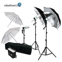 LimoStudio 600W Photography Triple Photo Umbrella Lighting K