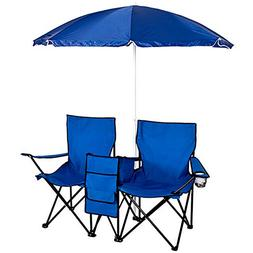 ShOpPeRcHoIcE Picnic Double Folding Chair w Umbrella Table C